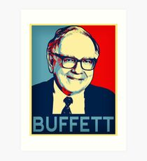 Warren Buffett  Hope Poster Art Print
