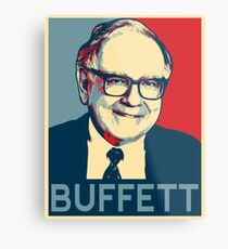 Warren Buffett Metal Print