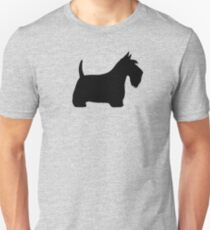 Scottish Terrier Silhouette(s) Unisex T-Shirt