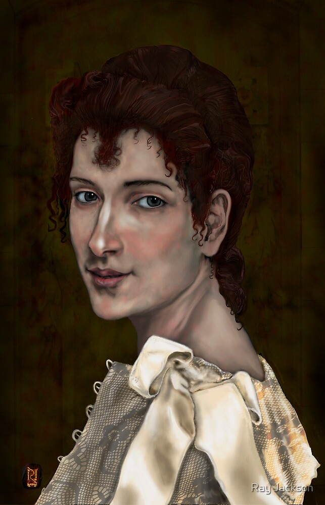 CLASSICAL DIGITAL PORTRAIT OF GABRIELLE COT by Ray Jackson