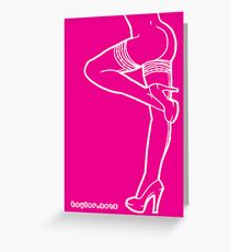 Hot Pink Legs 04 Greeting Card