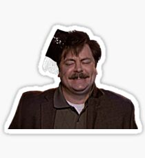 Ron Swanson- Dancing Sticker