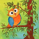 Whimsical Owl by tinymystic