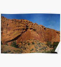 Beautiful red rock wall on Burr Trail Road, Utah Poster