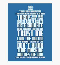 The Doctor Tardis Photographic Print