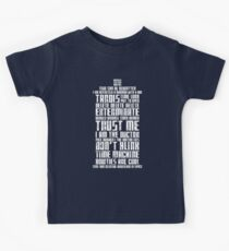 The Doctor Tardis Grunge version Kids Clothes
