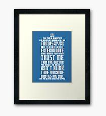 The Doctor Tardis Grunge version Framed Print