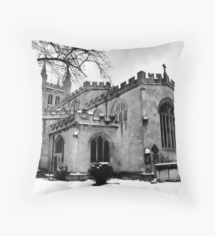 St Nicholas In The Snow. Throw Pillow