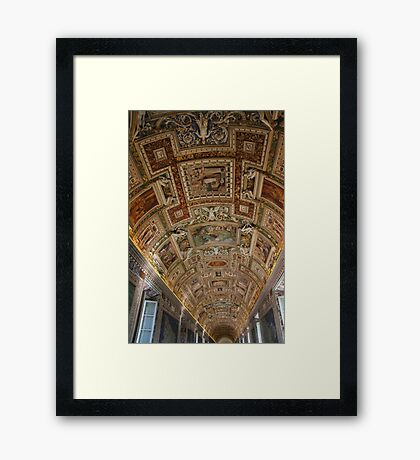 Gallery Ceiling - Vatican Museum - Rome Framed Print