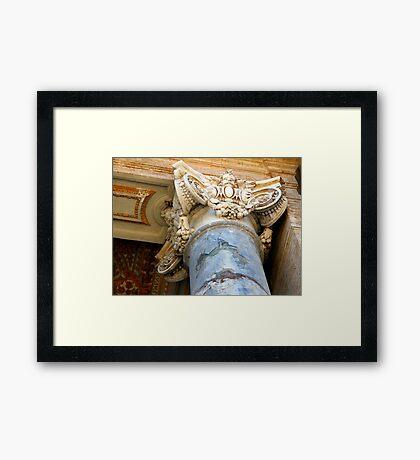 Pillar Capital - St Peter's Church - Vatican City - Rome Framed Print