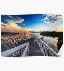 Tranquil View from a Dock Poster