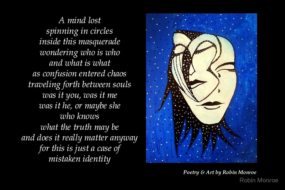 Masquerade - Poetry in Art by Robin Monroe