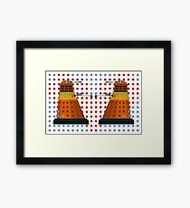 Dalek  Valentines Framed Print