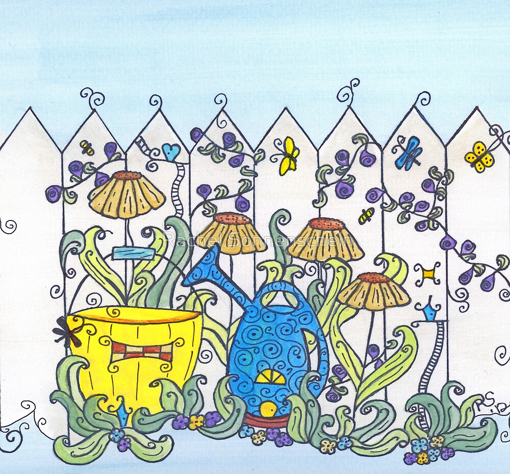 Little People in the Garden by Rachel Sonnenschein
