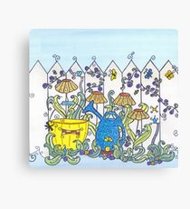 Little People in the Garden Canvas Print