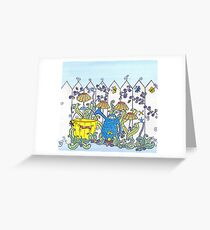 Little People in the Garden Greeting Card