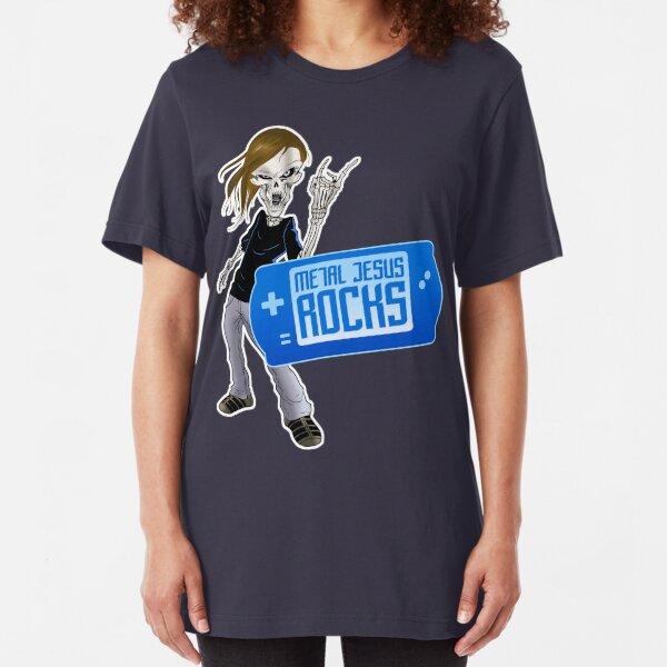 Metal Jesus Portable Slim Fit T-Shirt