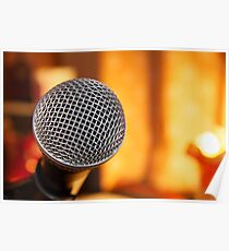 Sm58 Microphone Poster