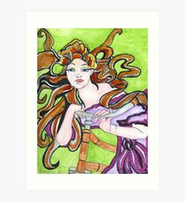 Cycling Goddess Art Print