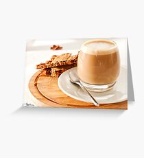 Cortado and Biscuits Greeting Card