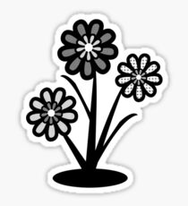 Monochrome Flowers (iPhone/iPod) Sticker