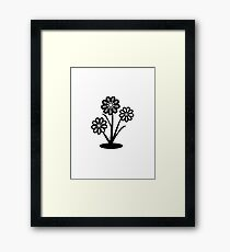 Monochrome Flowers (iPhone/iPod) Framed Print