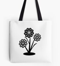 Monochrome Flowers (iPhone/iPod) Tote Bag