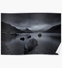 Moody Winter on Wastwater Poster
