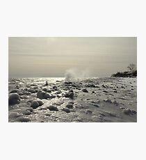Winter Lakefront Ice I Photographic Print