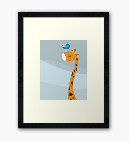 Orange an Blue Framed Print