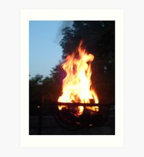 beautiful fire at night Art Print