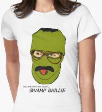 """""""The man with no heart...Swamp Ghillie""""  Women's Fitted T-Shirt"""