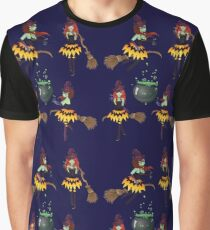 Dark Witch with Broom 3 Graphic T-Shirt