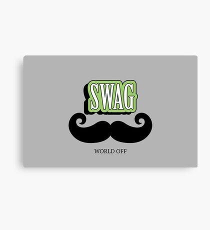 Swag a Mustache VRS2 Canvas Print