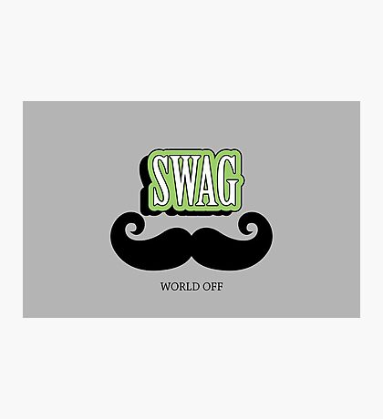 Swag a Mustache VRS2 Photographic Print