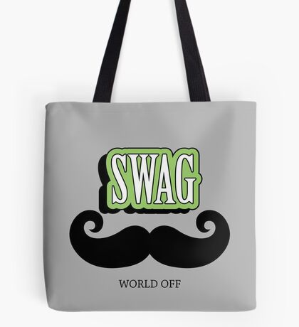 Swag a Mustache VRS2 Tote Bag