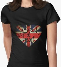 British at Heart Women's Fitted T-Shirt