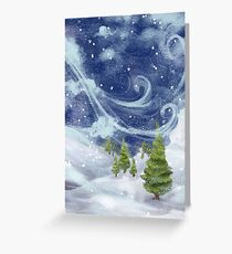 Snowy Greeting Card