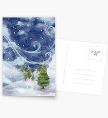 Schneebedeckt Postkarten