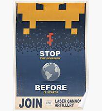 Treten Sie der Laser Canon Artillerie bei Poster