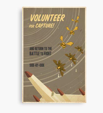 Volunteer for capture Canvas Print