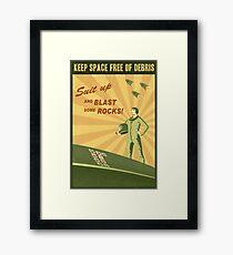 Keep Space Free of Debris Framed Print