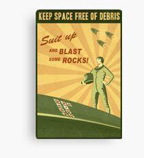 Keep Space Free of Debris Canvas Print