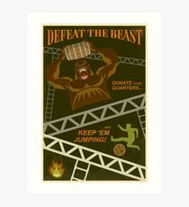 Defeat the Beast Art Print