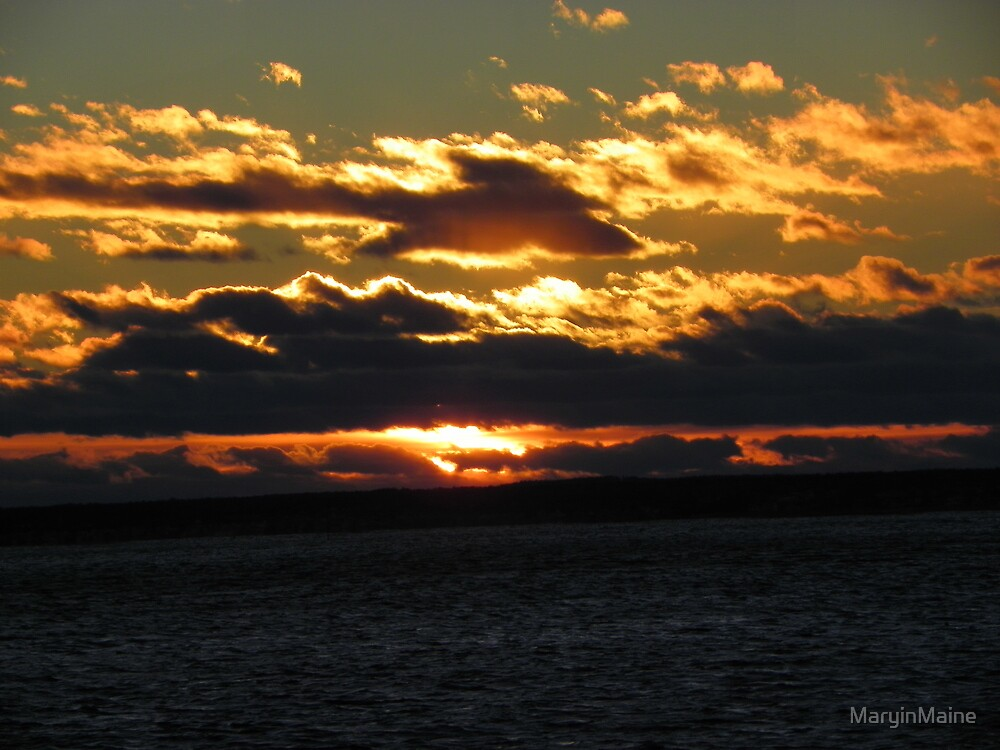 Winter Sunset by MaryinMaine
