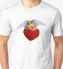 Angel Hamster with Heart T-Shirt