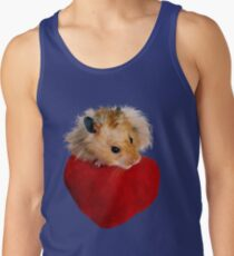Hamster with Heart Tank Top
