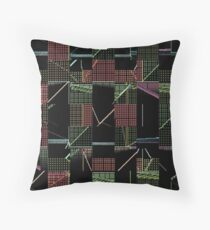 Crossed Circuits Throw Pillow