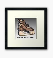 Old Ice Hockey Skate Framed Print