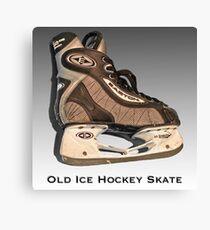 Old Ice Hockey Skate Canvas Print